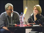 Ulf Stolterfoht, Anja Utler: Stille Post <br/>(c) Heiner Wittmann