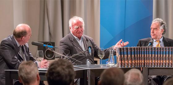 """Martin Walser, Heribert Tenschert: """"Zu träumen genügt"""" - Ein literarisches Lesespiel zum 90. Geburtstag von Martin Walser <br/>(c) Sebastian Wenzel"""
