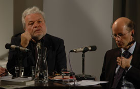 Nedim Gürsel, Michael Thumann: Modern und muslimisch: Wie freiheitlich denken die neuen Eliten? <br/>(c) Tilmann Eberhardt