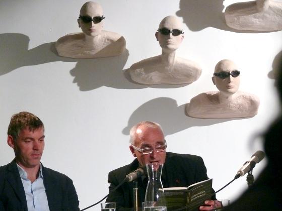 Ulf Stolterfoht, José F. A. Oliver, Kai Weyand, Barbara Honigmann: Unverhofftes Wiedersehen! - Eine Hommage an Johann Peter Hebel, Montag, 27.09.10               /                   20.00              Uhr <br/>(c) Heiner Wittmann