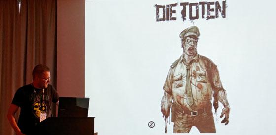 Christiane Maschajechi, Stefan Dinter, Erik Kriek, Jorge Miguel: Zombies im Literaturhaus <br/>(c) Ronny Schönebaum